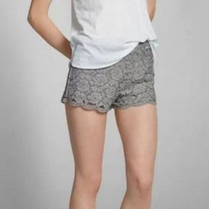 Abercrombie & Fitch Grey Lace Shorts